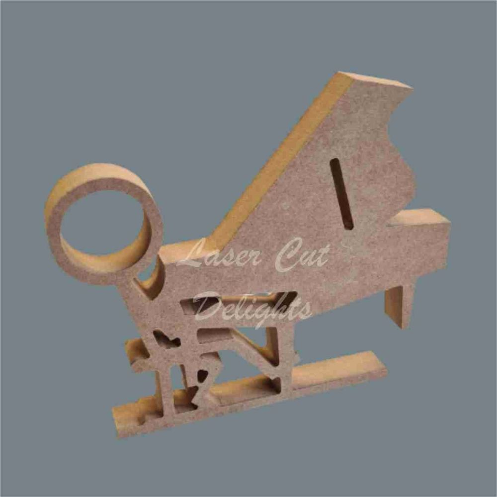 Stick Figure - Piano Player / Laser Cut Delights