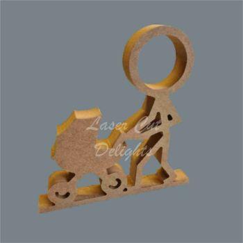 Stick Figure - Pushing Pram / Laser Cut Delights