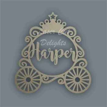 Name in a Princess Carriage / Laser Cut Delights