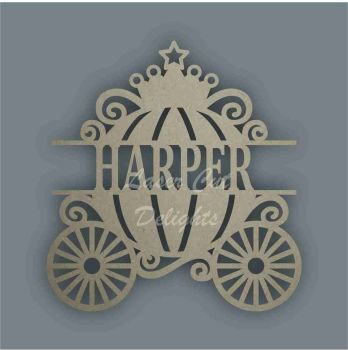Name ALONG a Princess Carriage / Laser Cut Delights