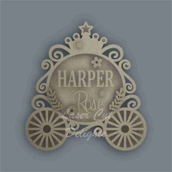 Layered Princess Carriage Plaque / Laser Cut Delights