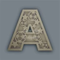 Football and Stars Layered Letters & Numbers / Laser Cut Delights