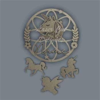 Layered Spiral UNICORN HEAD Dream Catcher / Laser Cut Delights