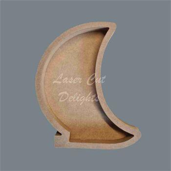 Open Fillable Crescent Moon (no acrylic) / Laser Cut Delights