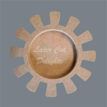 Open Fillable Sun (no acrylic) / Laser Cut Delights