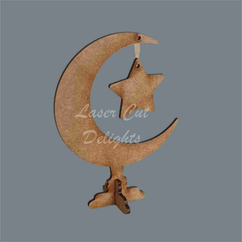 Moon with hanging star / Laser Cut Delights