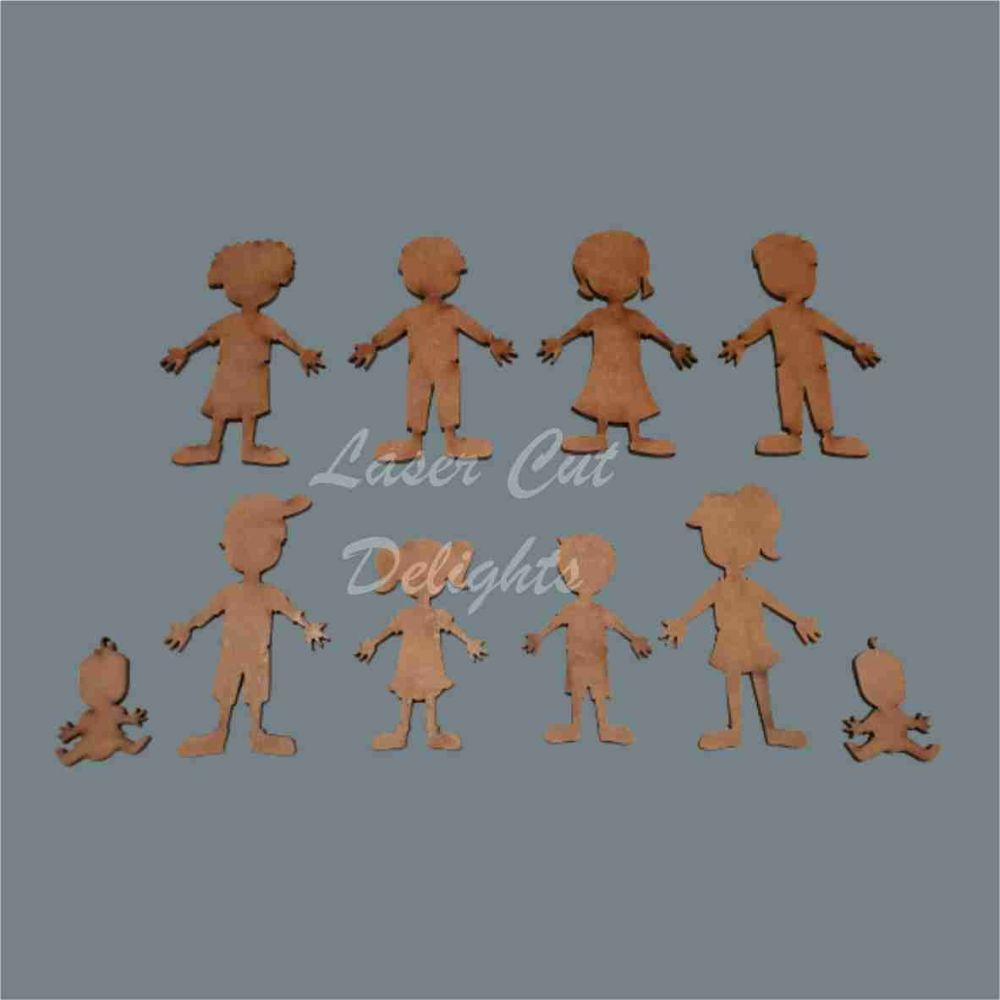 Family Characters Blank Pack / Laser Cut Delights