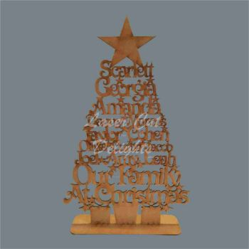 Christmas Tree Family Names - Height / Laser Cut Delights
