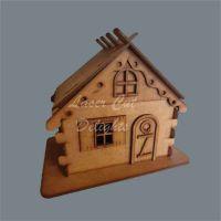 3D Christmas Cabin / Laser Cut Delights