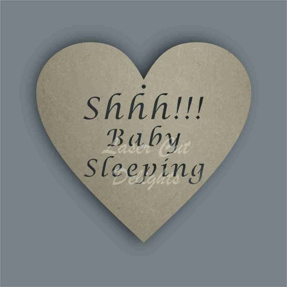 Shhh Prince Princess Baby Sleeping  / Laser Cut Delights