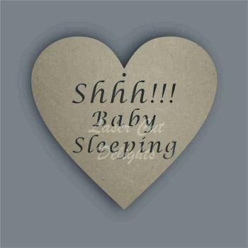 Shhh Prince Princess Baby Sleeping  Door Hanger Plaque / Laser Cut Delights