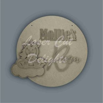Layered Cloud Name Plaque with Stencil Unicorn / Laser Cut Delights