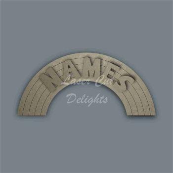 Rainbow Plain Name Door Plaque  / Laser Cut Delights