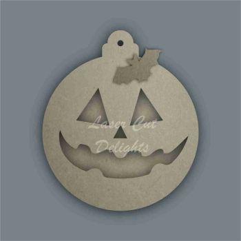 Bauble - Layered Pumpkin Face Cut Through 1 / Laser Cut Delights