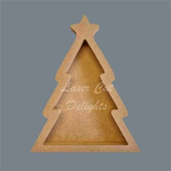 Open Fillable Christmas Tree (no acrylic) / Laser Cut Delights