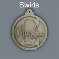 Bauble with Name and Initial / Laser Cut Delights