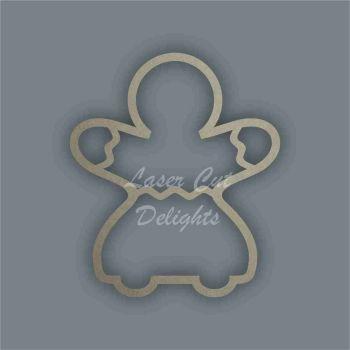 Gingerbread Lady Stencil / Laser Cut Delights