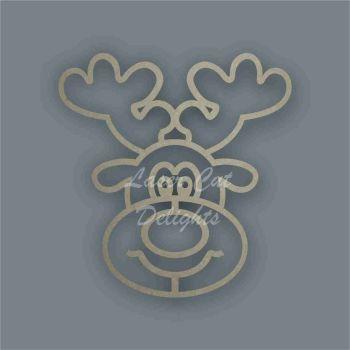 Reindeer Face Stencil / Laser Cut Delights