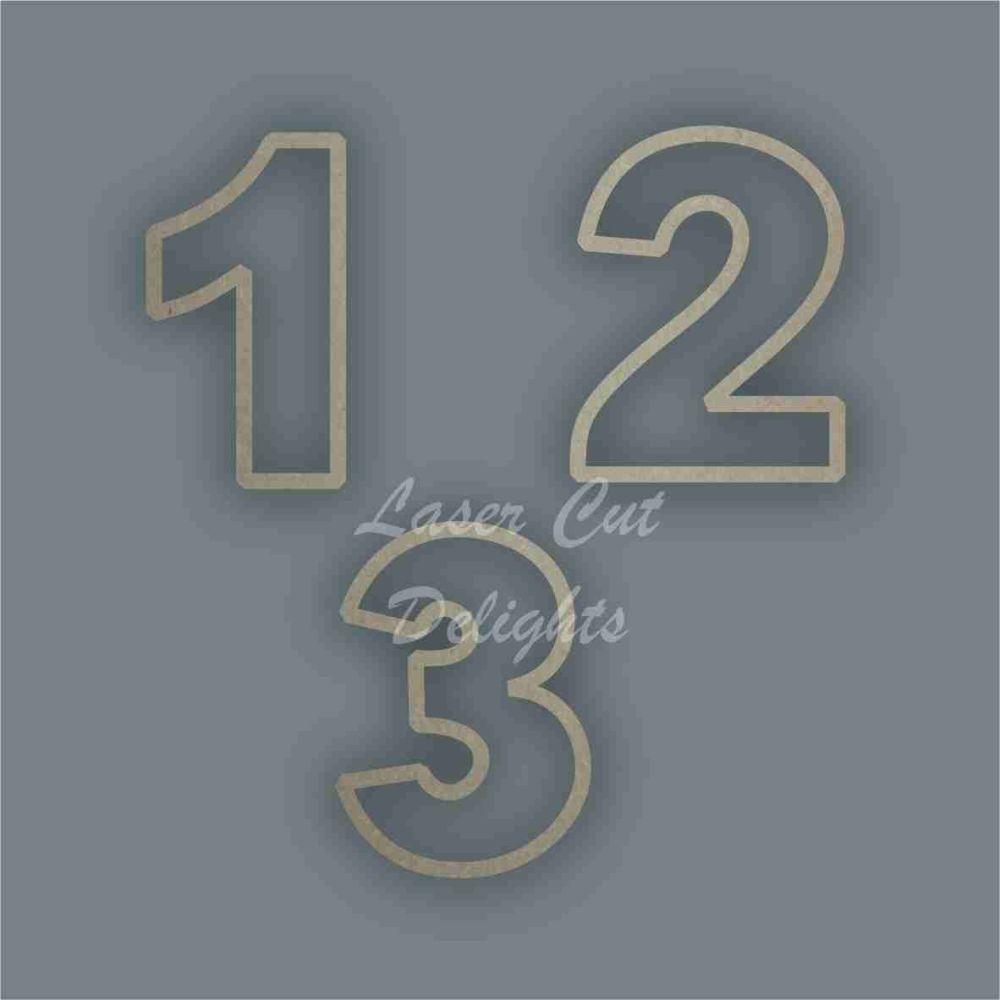 Number Original Font Stencil / Laser Cut Delights