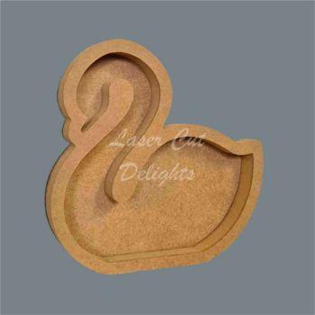 Open Fillable Swan (no acrylic) / Laser Cut Delights