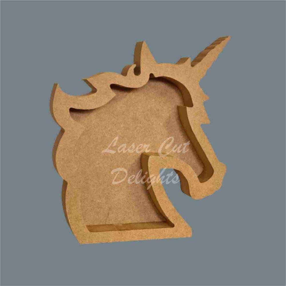 Open Fillable Unicorn Head (no acrylic) / Laser Cut Delights