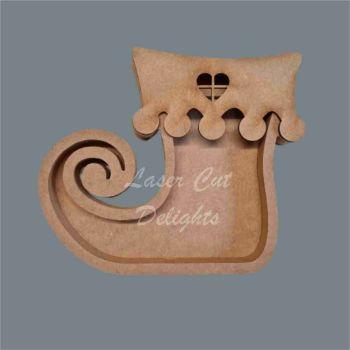 Open Fillable Elf Boot (no acrylic) / Laser Cut Delights
