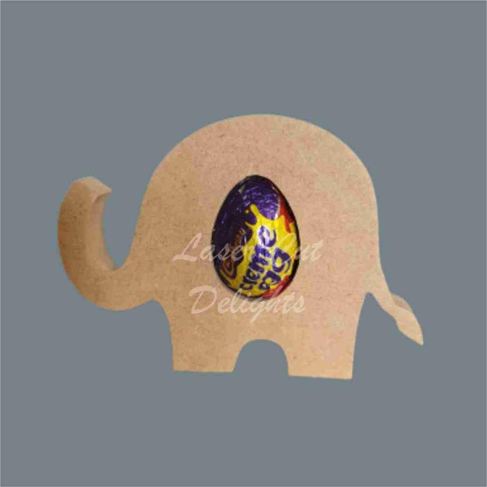 Chocolate Egg Holder 18mm - Elephant / Laser Cut Delights