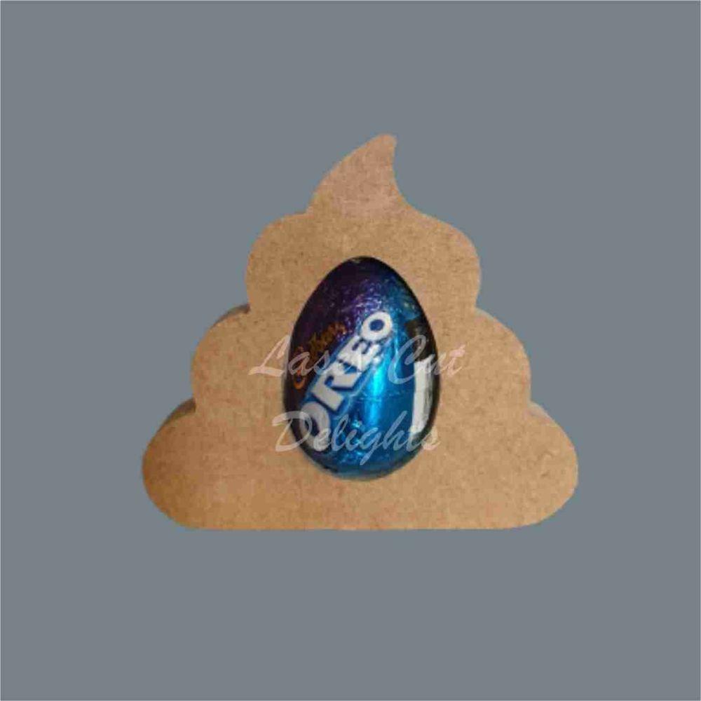 Chocolate Egg Holder 18mm - Poop / Laser Cut Delights