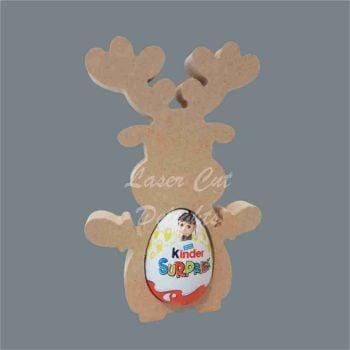 Chocolate Egg Holder 18mm - Reindeer / Laser Cut Delights