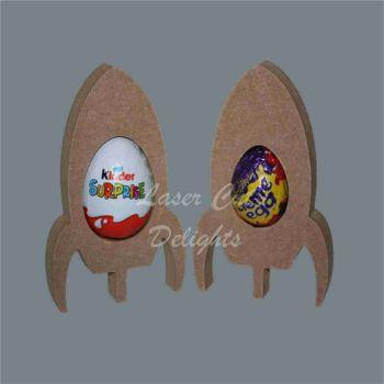 Chocolate Egg Holder 18mm - Rocket / Laser Cut Delights