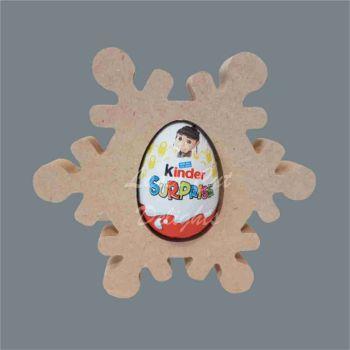 Chocolate Egg Holder 18mm - Snowflake / Laser Cut Delights