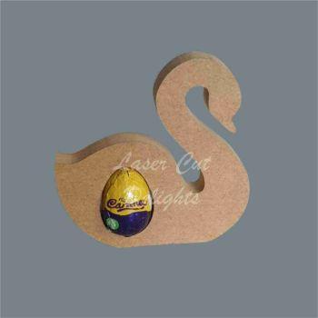 Chocolate Egg Holder 18mm - Swan / Laser Cut Delights