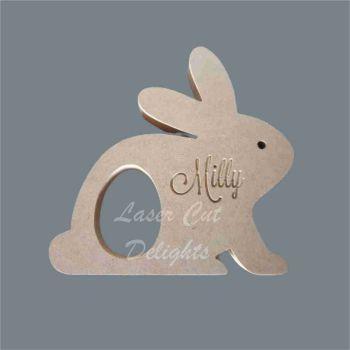 Chocolate Egg Holder - Rabbits + Name 18mm / Laser Cut Delights
