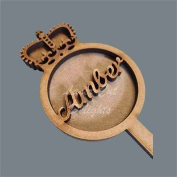 Wand Bauble Crown FANCY Personalised / Laser Cut Delights