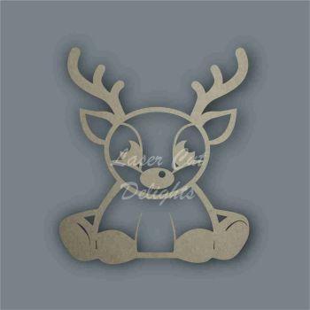 Reindeer Sitting Stencil / Laser Cut Delights