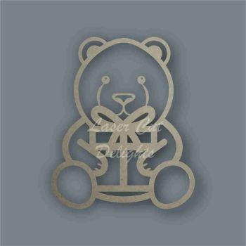 Polar Bear with Present Stencil / Laser Cut Delights