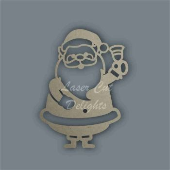 Father Christmas Santa Claus with bell Stencil / Laser Cut Delights