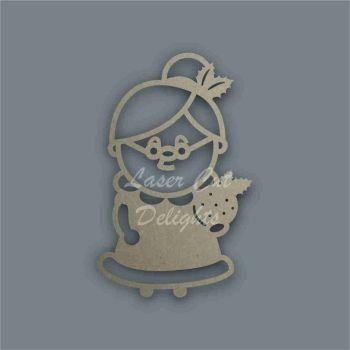 Mrs Santa Claus Stencil / Laser Cut Delights