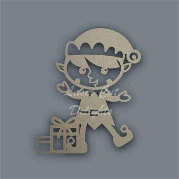 Elf Boy Present Stencil / Laser Cut Delights
