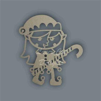 Elf Girl Candy Cane Stencil / Laser Cut Delights