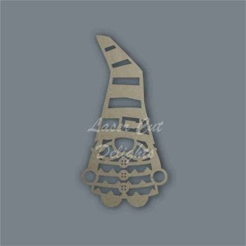 Gonk Gnome Stripes Stencil / Laser Cut Delights