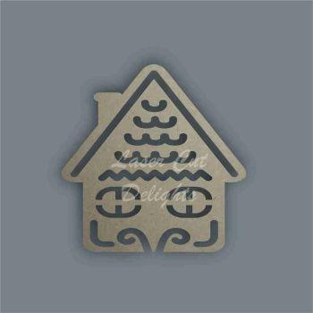 Christmas Cottage Swirls Stencil / Laser Cut Delights