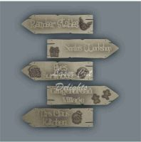 Arrow Directional Signs - North Pole / Laser Cut Delights