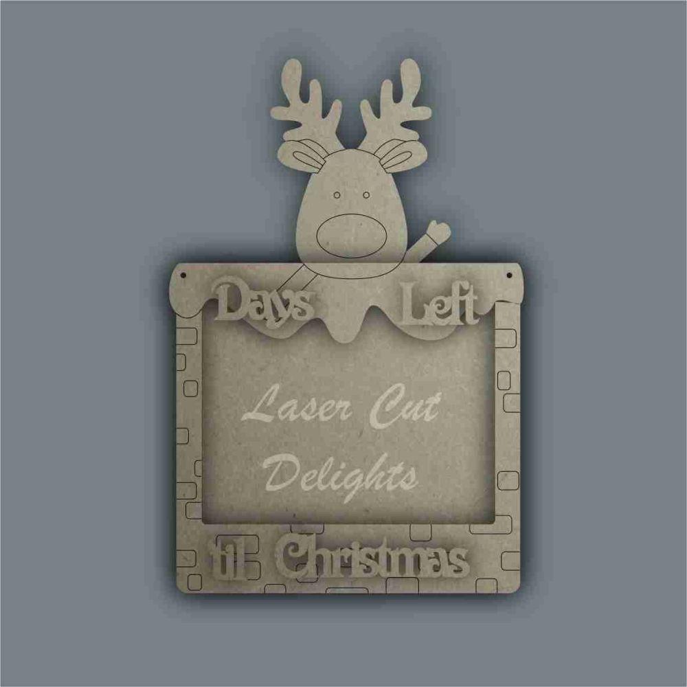 Advent Calendar Countdown To Christmas CHALKBOARD - (various designs) / Las