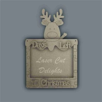 Advent Calendar 3D Countdown To Christmas REINDEER / Laser Cut Delights