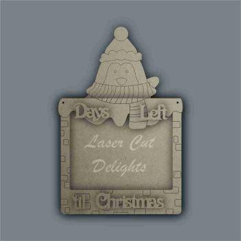 Advent Calendar 3D Countdown To Christmas PENGUIN / Laser Cut Delights