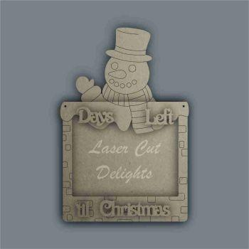 Advent Calendar 3D Countdown To Christmas SNOWMAN / Laser Cut Delights