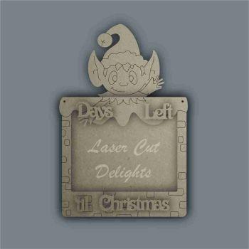 Advent Calendar 3D Countdown To Christmas ELF / Laser Cut Delights