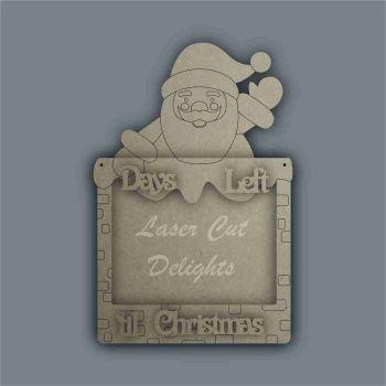 Advent Calendar 3D Countdown To Christmas SANTA / Laser Cut Delights