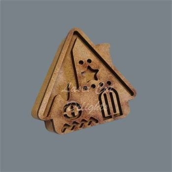 Layered 18mm Christmas Cottage Snow / Laser Cut Delights